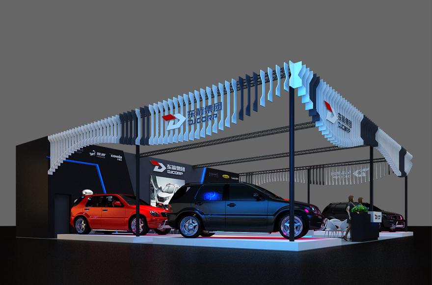 汽车汽配展厅设计案例